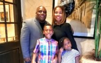 Charice Thompson, winner of the Drs. Henry J. and Bonita R. Durand Scholarship, with her husband, Jermaine Thompson; son, Baron; and daughter, Emerald.